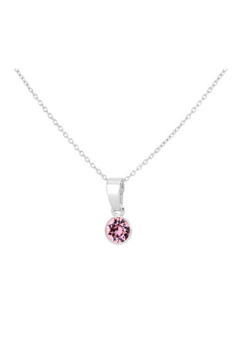 Ketting roze Swarovski kristal hanger - sterling zilver - ARLIZI 1781 - Nala