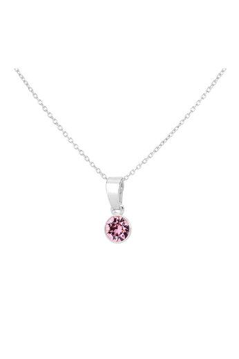 Necklace pink Swarovski crystal pendant - sterling silver - ARLIZI 1781 - Nala