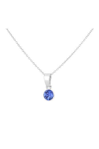 Necklace sapphire blue Swarovski crystal pendant - sterling silver - ARLIZI 1783 - Nala