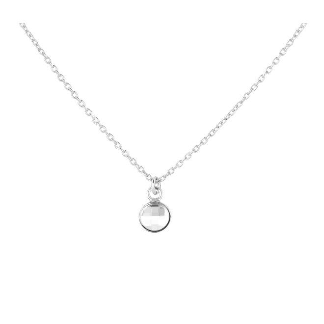 Halskette Kristall Anhänger Sterling Silber - 1793