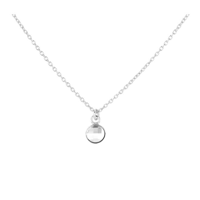 Necklace crystal pendant sterling silver - 1793