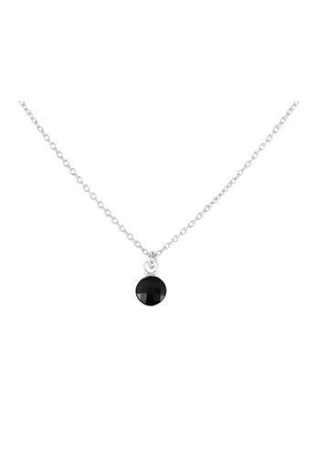 Necklace black Swarovski crystal pendant - sterling silver - ARLIZI 1796 - Joy