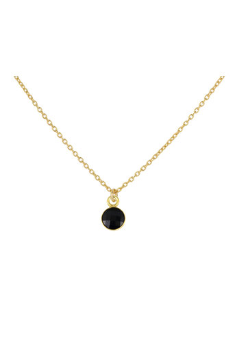 Halskette schwarz Swarovski Kristall Anhänger - Sterling Silber vergoldet - ARLIZI 1799 - Joy