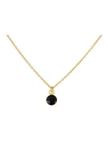 Ketting zwart Swarovski kristal hanger - sterling zilver verguld - ARLIZI 1799 - Joy