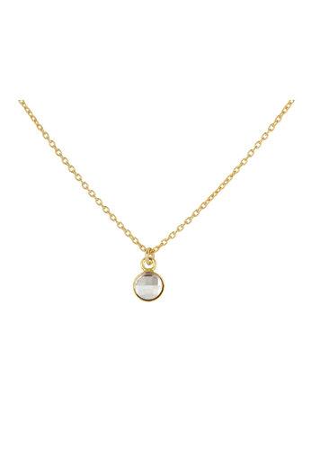Necklace transparent Swarovski crystal pendant - sterling silver gold plated - ARLIZI 1802 - Joy