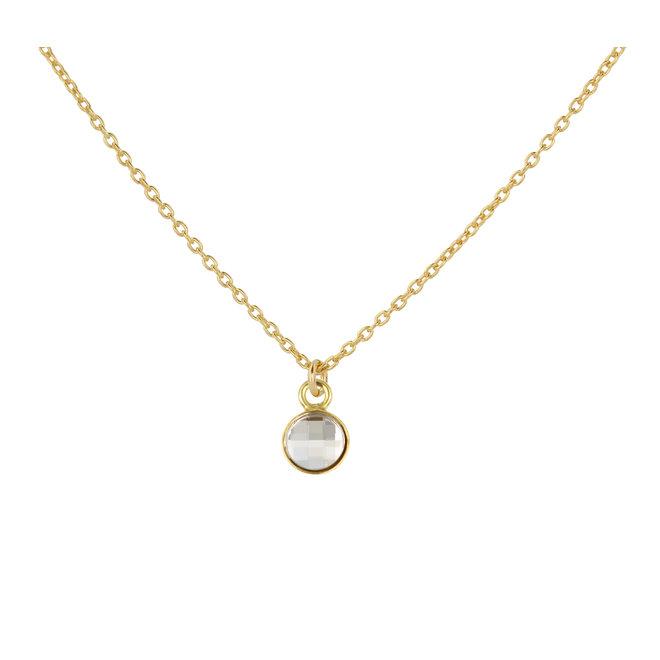Halskette Swarovski Kristall Anhänger 925 Silber vergoldet - 1802