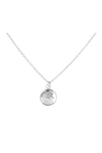 Necklace transparent Swarovski crystal pendant - sterling silver - ARLIZI 1805 - Joy