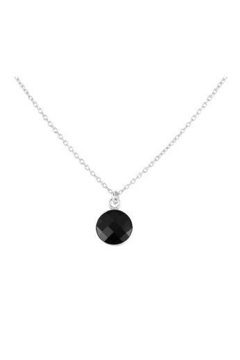 Necklace black Swarovski crystal pendant - sterling silver - ARLIZI 1808 - Joy
