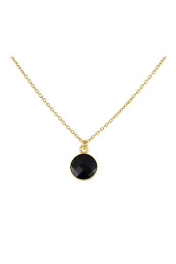 Necklace black Swarovski crystal pendant - sterling silver gold plated - ARLIZI 1811 - Joy