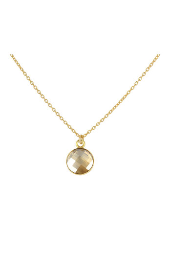 Necklace Swarovski crystal pendant - sterling silver gold plated - ARLIZI 1814 - Joy