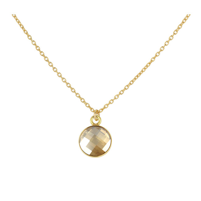 Necklace Swarovski crystal pendant 925 silver gold plated - 1814