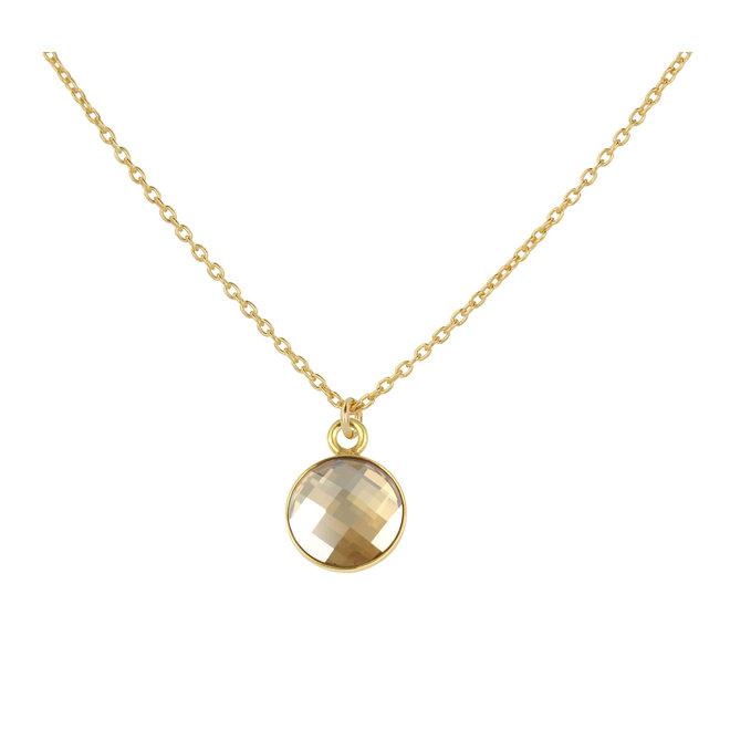 Necklace Swarovski crystal pendant - sterling silver gold plated - ARLIZI 1814 - Joy