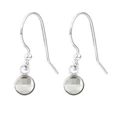 Ohrringe transparent Kristall - Sterling Silber - 1792