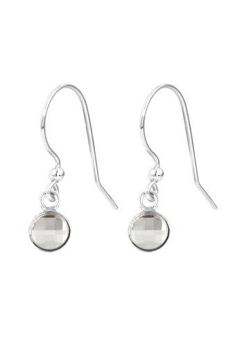 Earrings transparent Swarovski crystal drop earrings - sterling silver - ARLIZI 1792 - Joy