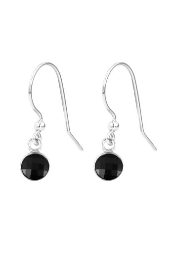 Earrings black Swarovski crystal drop earrings - sterling silver - ARLIZI 1795 - Joy