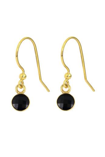 Earrings black Swarovski crystal drop earrings - sterling silver gold plated - ARLIZI 1798 - Joy