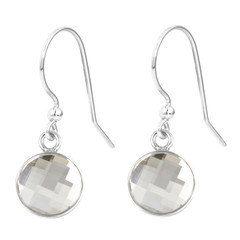 Earrings transparent crystal - sterling silver - 1803
