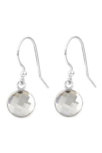 Earrings transparent Swarovski crystal drop earrings - sterling silver - ARLIZI 1803 - Joy