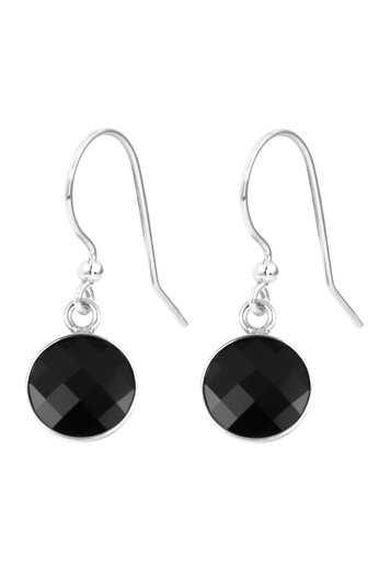 Oorbellen zwart Swarovski kristal oorhangers - sterling zilver - ARLIZI 1806 - Joy