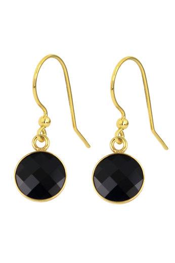 Oorbellen zwart Swarovski kristal oorhangers - sterling zilver verguld - ARLIZI 1809 - Joy