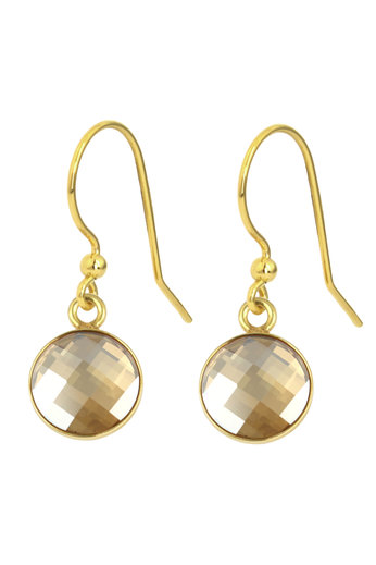 Earrings Swarovski crystal drop earrings - sterling silver gold plated - ARLIZI 1812 - Joy