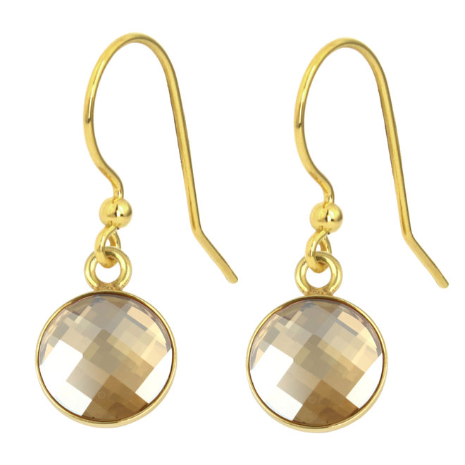 Earrings Swarovski crystal - 925 silver gold plated - 1812
