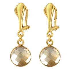 Ohrclips Swarovski Kristall - 925 Silber vergoldet - 1813