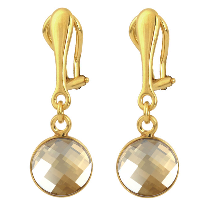 Oorbellen Swarovski kristal oorclips - sterling zilver verguld - ARLIZI 1813 - Joy