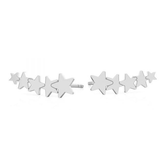Ohrringe Sterne Ohrmanschette - Sterling Silber - 1816
