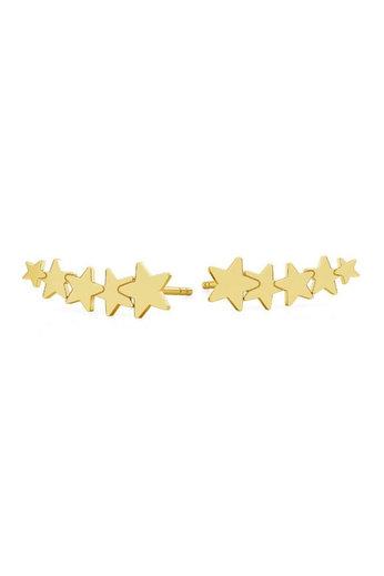 Earrings start ear climber - 925 sterling silver gold plated - ARLIZI 1817 - Zoe