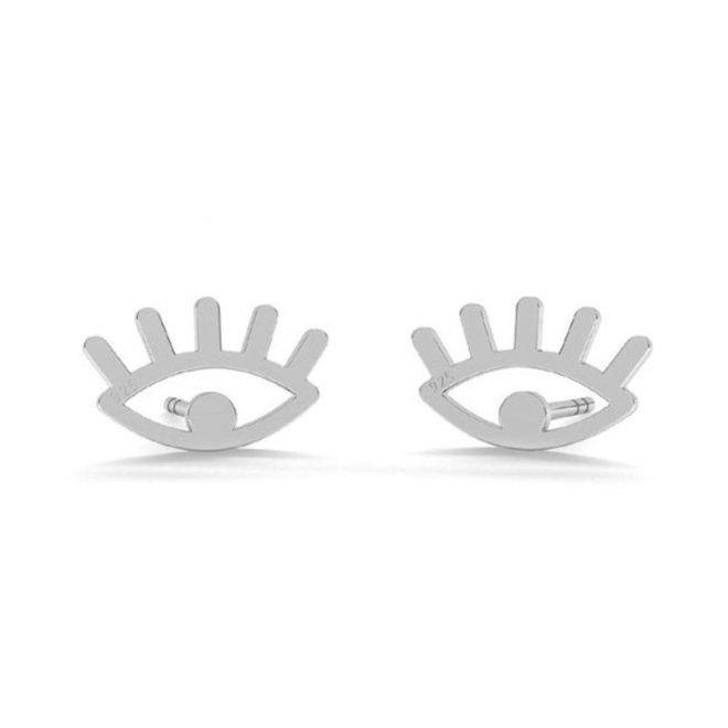 Oorbellen oogjes  oorstekers - sterling zilver - 1820