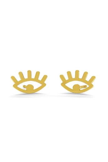 Oorbellen ogen oorstekers - 925 sterling zilver verguld - ARLIZI 1821 - Zoe