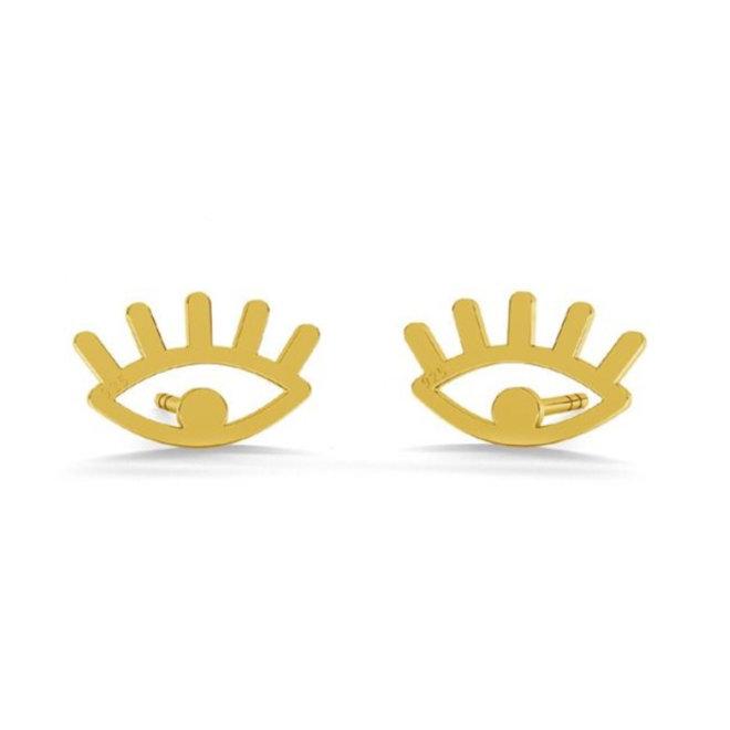 Ohrringe Augen Ohrstecker - Sterling Silber vergoldet - 1821