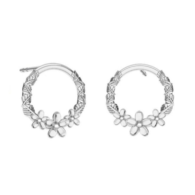 Earrings flower studs - sterling silver - 1824