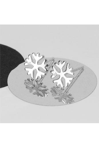 Earrings snowflake studs - 925 sterling silver - ARLIZI 1818 - Zoe