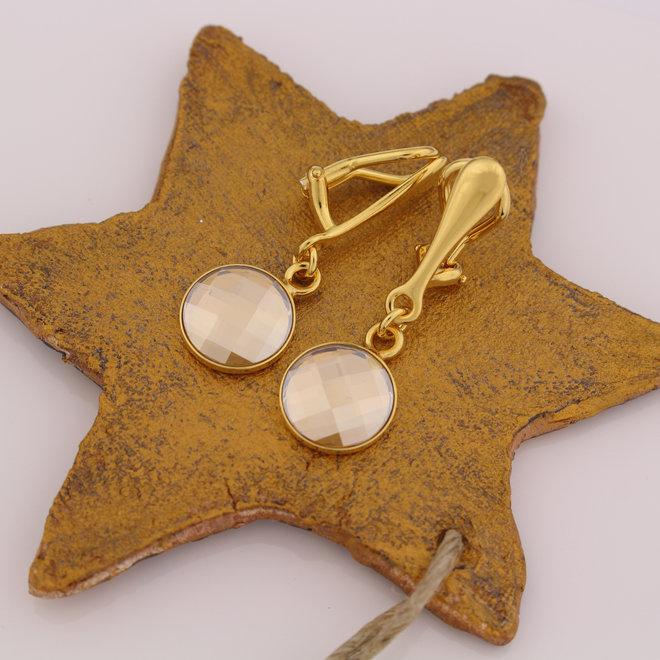 Ohrringe Swarovski Kristall Ohrclips - Sterling Silber vergoldet - ARLIZI 1813 - Joy