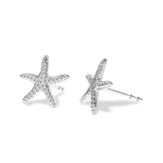 Earrings starfish ear studs - sterling silver - 1831