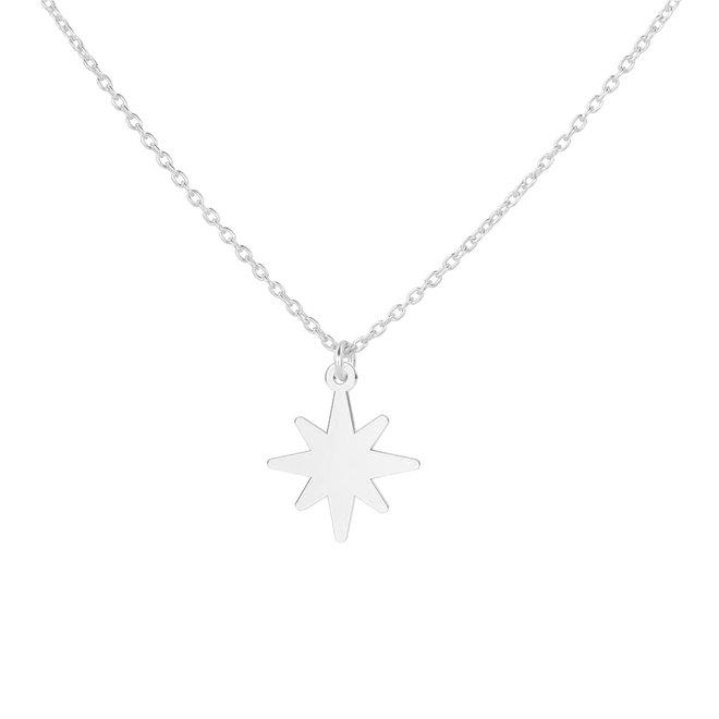 Halskette Stern Anhänger Sterling Silber - 1835