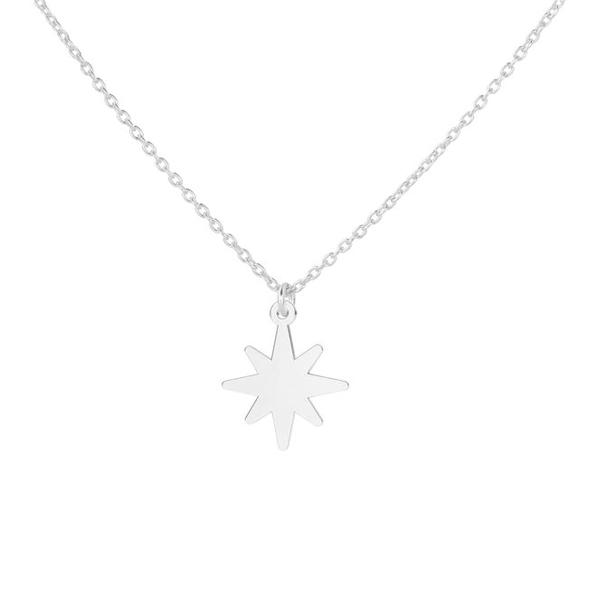 Necklace star pendant sterling silver - 1835