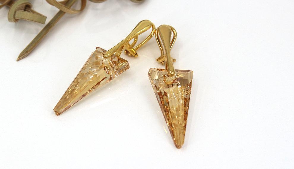 Die schönsten Ohrclips mit Swarovski Kristall