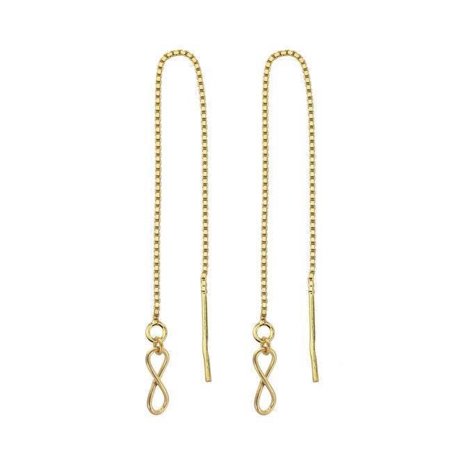 Durchzieher Ohrringe Infinity Silber vergoldet - 1854