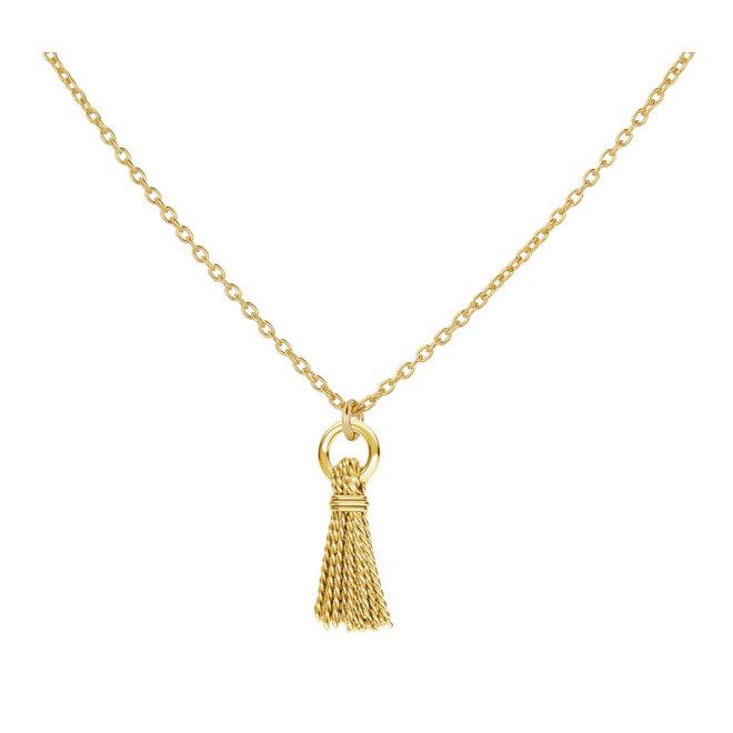 Halskette Quaste Anhänger - Sterling Silber vergoldet - ARLIZI 1864 - Kendal