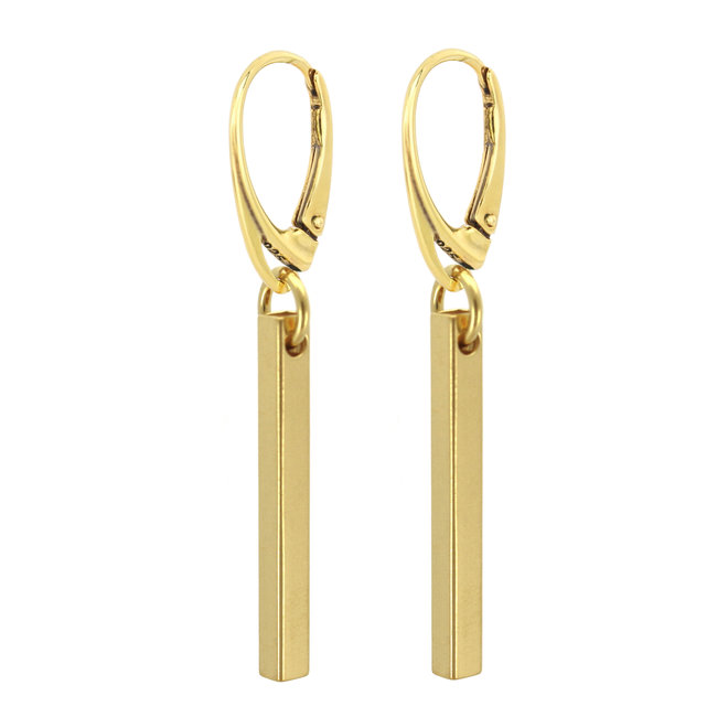 Ohrringe Bar Anhänger - Sterling Silber vergoldet - ARLIZI 1866 - Kendal