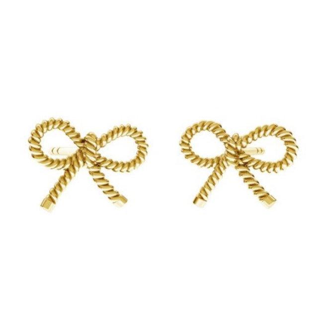 Ohrringe Schleife Ohrstecker - 925 Sterling Silber vergoldet - ARLIZI 1874 - Zoe