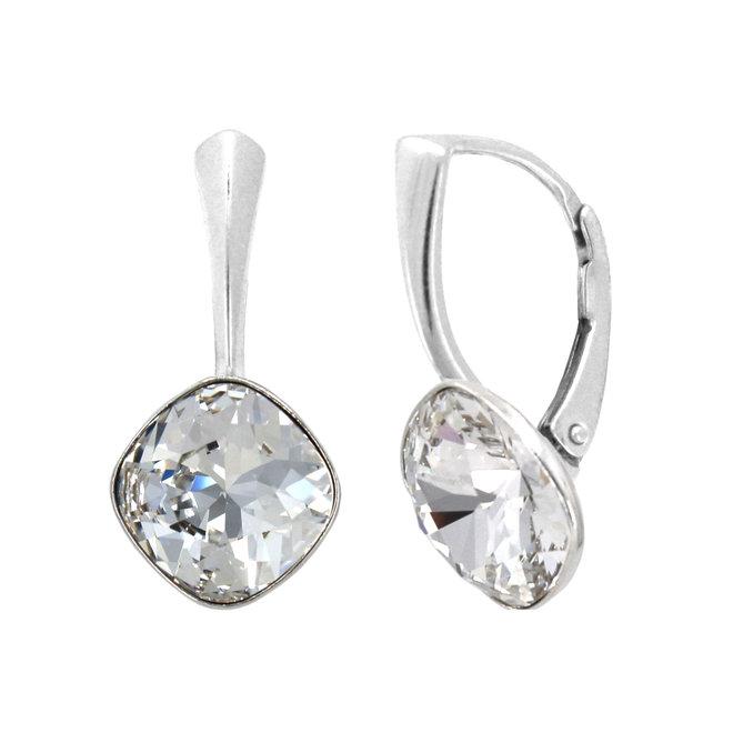Oorbellen transparant Swarovski kristal 10 mm - sterling zilver - ARLIZI 1849 - Isabel