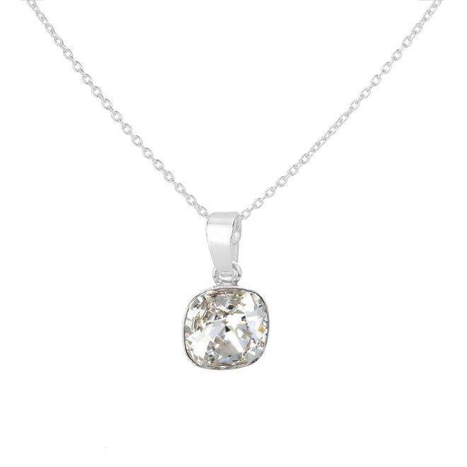 Ketting transparant Swarovski kristal hanger - sterling zilver - ARLIZI 1851 - Isabel