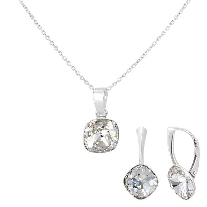 Sieraden set kristal - sterling zilver - 1852