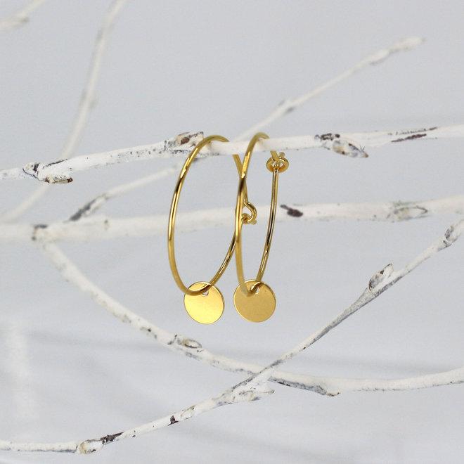 Ohrringe Scheibe Anhänger - Sterling Silber vergoldet - ARLIZI 1881 - Kendal