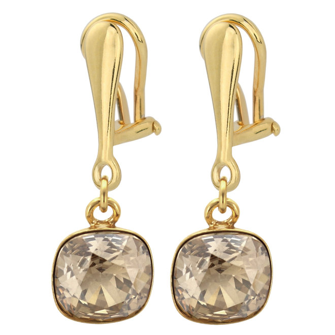 Oorbellen Swarovski kristal oorclips - sterling zilver verguld - ARLIZI 1893 - Isabel
