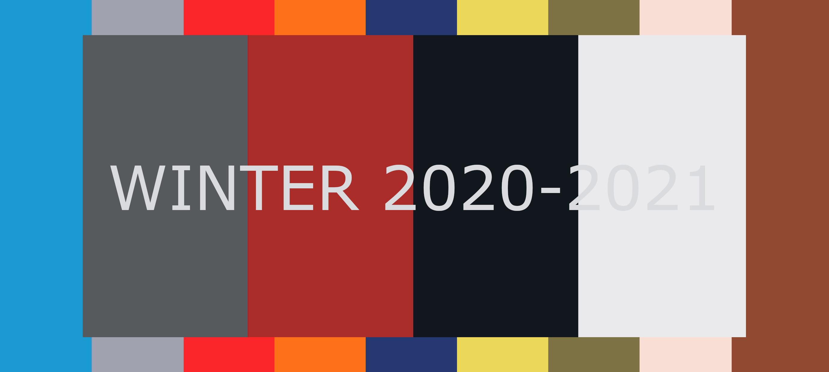 Top 10 modekleuren winter 2020-2021